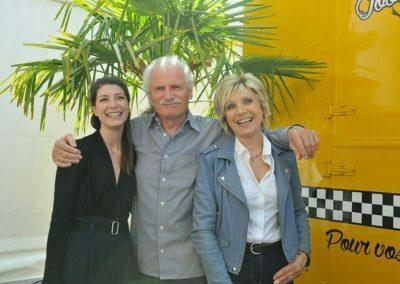 Évelyne Dhéliat, Chloé Nabédian, Yann Arthus-Bertrand au FIM