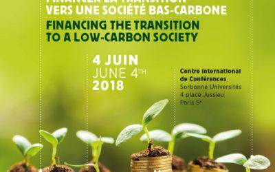 """Colloque international du FIM 2018 """"Financer la transition vers une société bas carbone"""""""