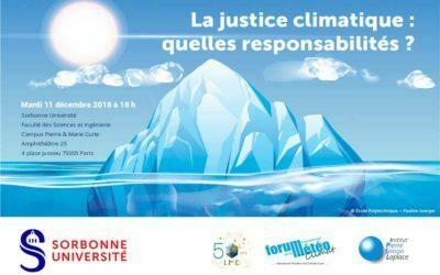 La justice climatique : quelles responsabilités ?