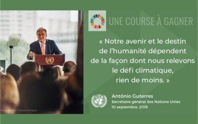 17 objectifs pour sauver le monde. Sommet Action Climat, le 23 Septembre 2019 à New-York